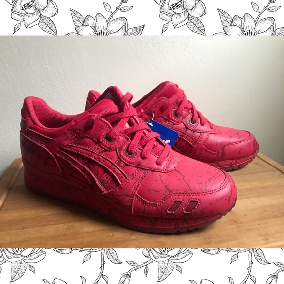 new concept 8c72e 62439 Asics GEL Lyte III Red Marble Shoes sz11/W sz9.5/M NWT